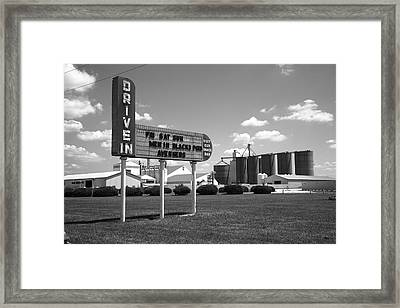 Route 66 Drive-in Theater Framed Print by Frank Romeo