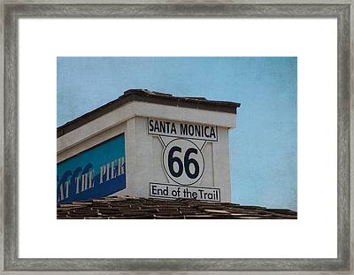 Route 66 - End Of The Trail Framed Print