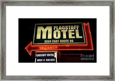 Route 66 Flagstaff Motel Framed Print by Bob Christopher