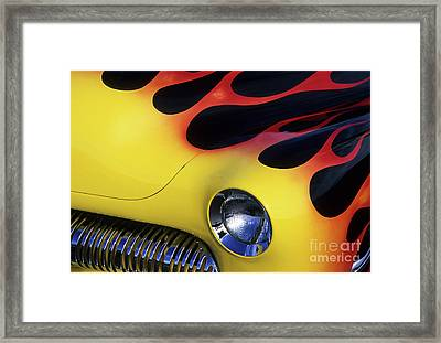 Route 66 Flaming Rod Framed Print by Bob Christopher
