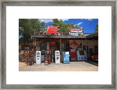 Route 66 - Hackberry General Store Framed Print by Frank Romeo