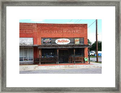 Route 66 - Hardware Store Erick Oklahoma Framed Print by Frank Romeo