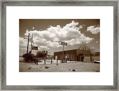 Route 66 In Arizona Framed Print by Frank Romeo