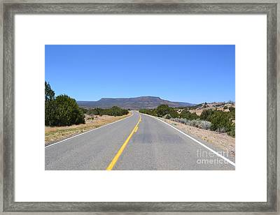 Framed Print featuring the photograph Route 66 In New Mexico by Utopia Concepts