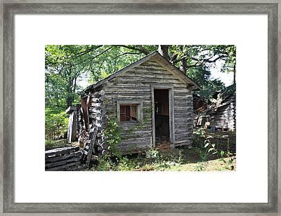Route 66 - John's Modern Cabins Framed Print