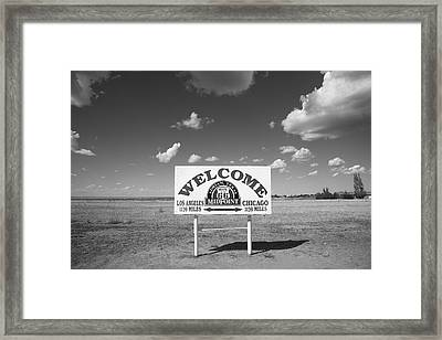 Route 66 - Midpoint Sign Framed Print by Frank Romeo