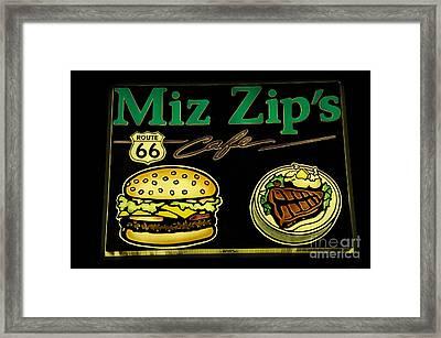 Route 66 Miz Zips Framed Print by Bob Christopher