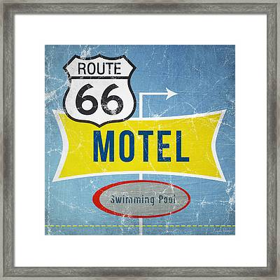 Route 66 Motel Framed Print by Linda Woods