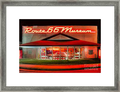 Route 66 Museum Framed Print by Twenty Two North Photography