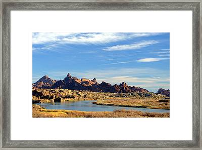 Route 66 Needles Mtn Range Two  Sold Framed Print by Antonia Citrino