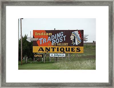 Route 66 - Oklahoma Trading Post Framed Print