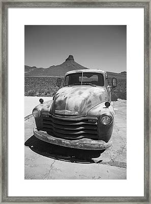 Route 66 - Old Chevy Pickup Framed Print by Frank Romeo