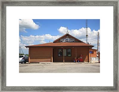Route 66 - Old Log Cabin 2 Framed Print