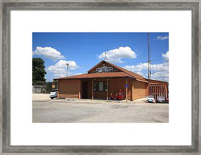 Route 66 - Old Log Cabin 3 Framed Print