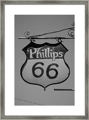 Route 66 - Phillips 66 Petroleum Framed Print by Frank Romeo