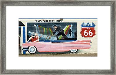Route 66 Pink Cadillac 1 Framed Print by Bob Christopher