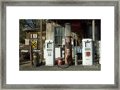 Route 66 Pumps Framed Print by Bob Christopher