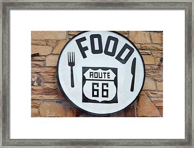 Route 66 Restaurant  Framed Print by Cynthia Guinn