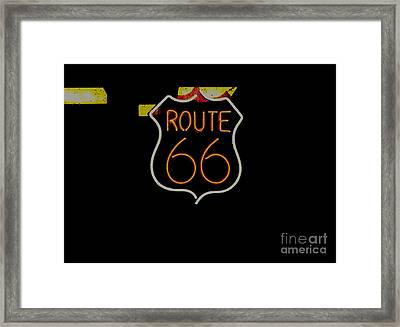 Route 66 Revisited Framed Print by Kelly Awad