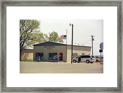 San Jon New Mexico - Post Office Framed Print by Frank Romeo