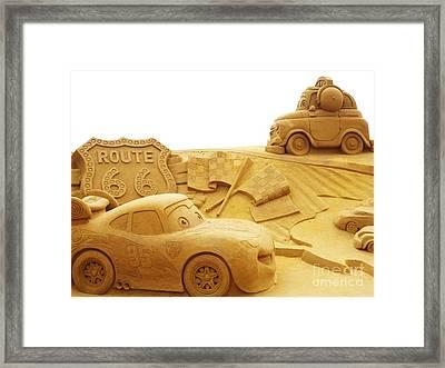 Route 66 Sandsculpture Framed Print