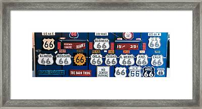 Route 66 Sign Collection Framed Print by Panoramic Images