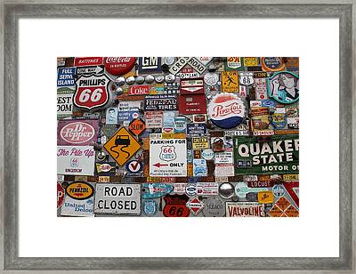 Route 66 Signs Framed Print