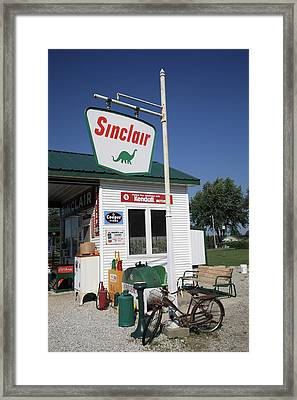 Route 66 - Sinclair Station Framed Print