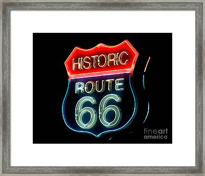 Route 66 Framed Print by Theodore Clutter