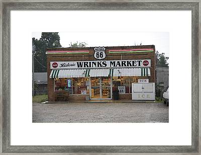 Route 66 - Wrink's Market Framed Print by Frank Romeo