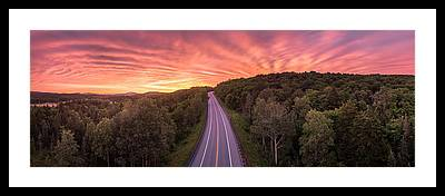 Vermont Route 9 Framed Prints
