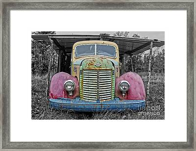 Framed Print featuring the photograph Route 9 Truck by Sebastian Mathews Szewczyk