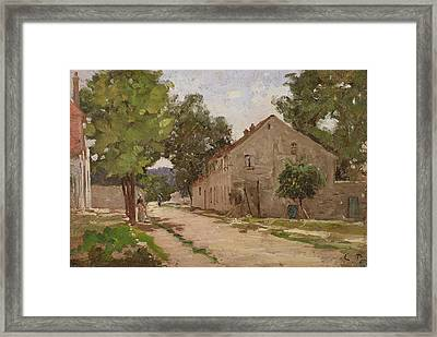 Route De Port-marly, C.1860-67 Framed Print by Camille Pissarro