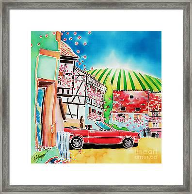 Route Des Vins Framed Print