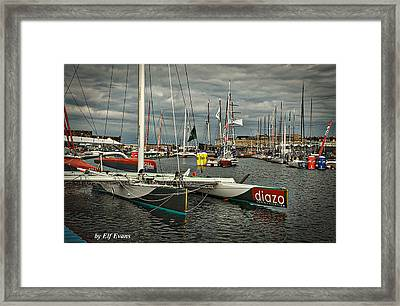 Framed Print featuring the photograph Route Du Rhum Ready by Elf Evans