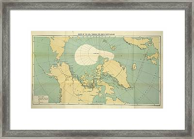 Route Of The Gjoa Framed Print by British Library