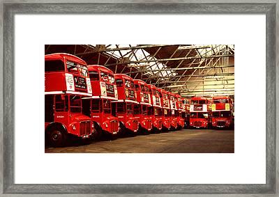 Routemasters Framed Print by John Topman
