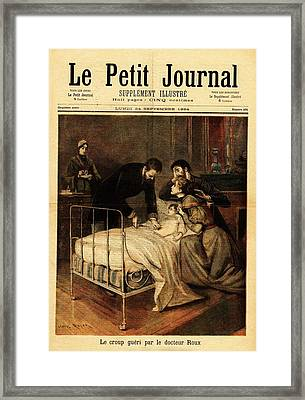 Roux Treating Croup Framed Print by National Library Of Medicine