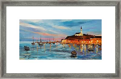 Rovanij Harbour Framed Print