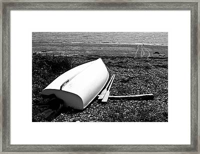 Row Boat In Maine Framed Print by Tony Grider