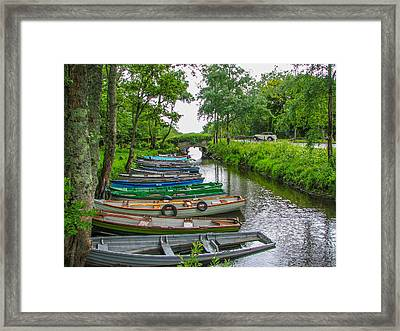 Row Boats Framed Print by Gestalt Imagery