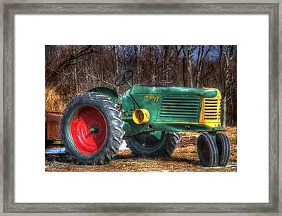 Row Crop 77 Framed Print by David Simons