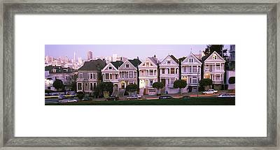 Row Houses In A City, Postcard Row, The Framed Print by Panoramic Images