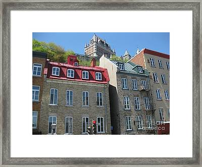 Row Houses In Quebec City Framed Print by Stella Sherman