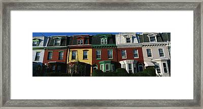 Row Houses Philadelphia Pa Framed Print by Panoramic Images