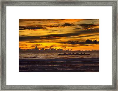 Row Framed Print by Karen Walzer