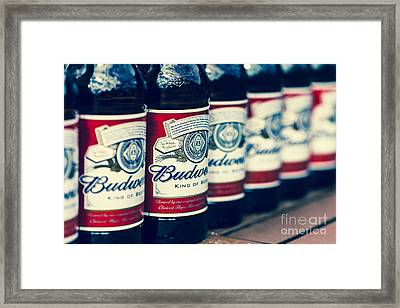 Row Of Beer Bottles Framed Print