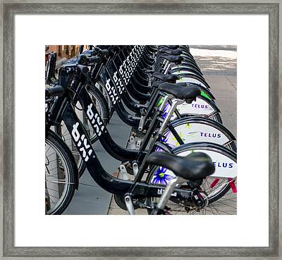 Row Of Bikes Framed Print
