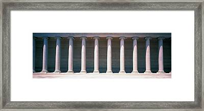 Row Of Columns San Francisco Ca Framed Print by Panoramic Images