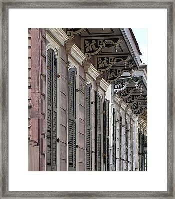 Row Of Houses Framed Print